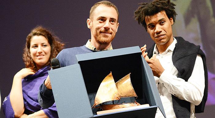 La Maddalena -Premio G M Volont+ 2014 a Elio Germano (foto Fabio Presutti)