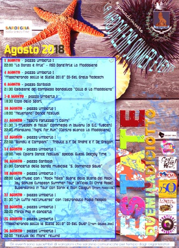 Eventi Agosto 2018
