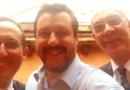 Gli onorevoli Giagoni e De Martini, in riunione a Roma con il leader Matteo Salvini