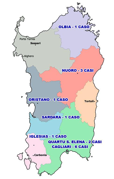 Cartina Sardegna Vicino Olbia.Coronavirus Primo Caso A Olbia Salgono A 15 I Contagiati In Sardegna Guardiavecchia